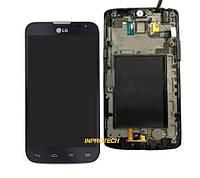 Дисплей (LCD) LG L80 D385 с сенсором (тачскрином) и рамкой Black Original