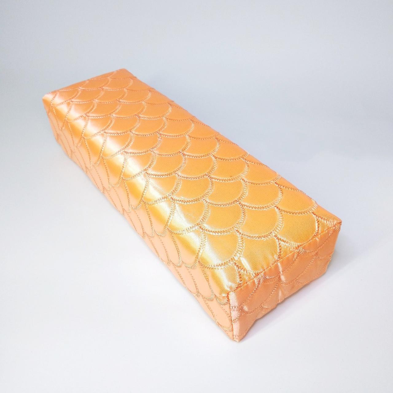 Підлокітник для манікюру текстильний помаранчевий