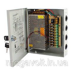 Блок питания 60W 12V 5А (в металлическом боксе) 9 каналов, IP20