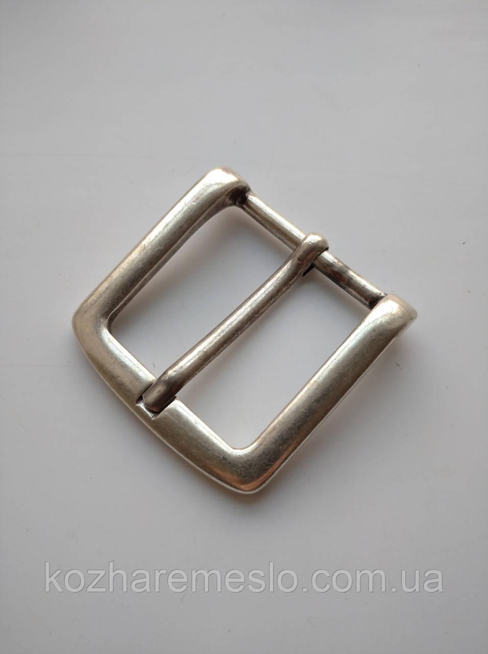 Пряжка литая 40 мм состаренное серебро
