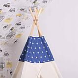 Детская палатка (вигвам) Springos Tipi XXL TIP08 White/Blue, фото 2