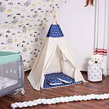 Детская палатка (вигвам) Springos Tipi XXL TIP08 White/Blue, фото 3