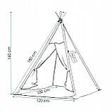 Детская палатка (вигвам) Springos Tipi XXL TIP08 White/Blue, фото 5