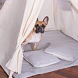 Детская палатка (вигвам) Springos Tipi XXL TIP10 White/Grey, фото 2