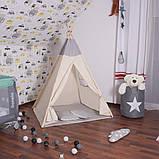 Детская палатка (вигвам) Springos Tipi XXL TIP10 White/Grey, фото 3