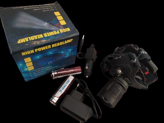 Налобный фонарь BL T32 -P50 2*18650 battery