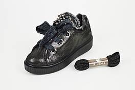 Кроссовки на меху Alpino 860 37 Темная-платина кожа