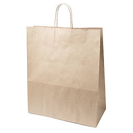 Бумажный пакет с ручками 320*150*380 бурый