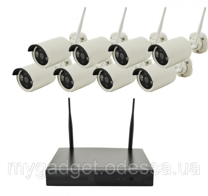 WiFi комплект для видео-наблюдения WiFi Full KIT (8 шт)