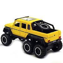 Машинка ігрова Автопром «Mercedes-Benz G63» Мерседес-Бенц Жовтий зі світловими і звуковими ефектами (7692), фото 3