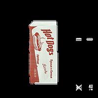 """Бумажный пакет Уголок Хот-Дог """"Пухлые и сочные 200х85мм (ВхШ) 40г/м² 500шт (35)"""