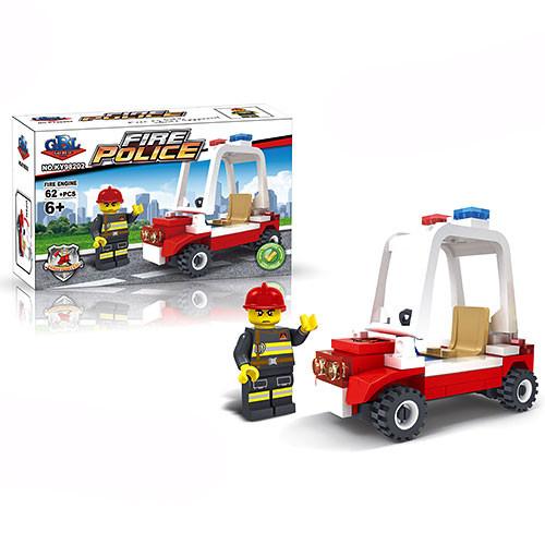 Конструктор пожарная машина, фигурка, 62дет, GBL KY98202