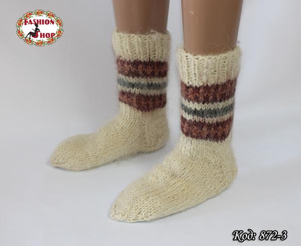 Настоящие шерстяные носки ручной работы  Сальса