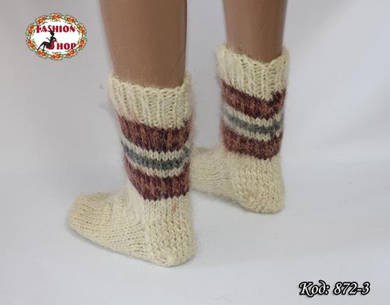 Настоящие шерстяные носки ручной работы  Сальса, фото 2