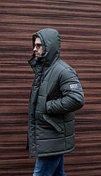 Мужская зимняя куртка хаки люкс качества до - 20 С. Размер 46, 48, 50, 52, 54