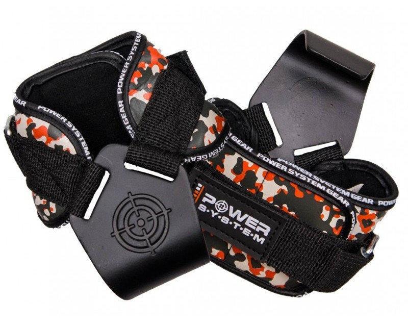 Крюки для тяги на запястья Power System Hooks Camo PS-3370 Black/Red L