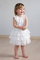 """Платье для девочки с оборками """"Айвори""""  03-00511МК"""