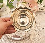 Посеребренная вазочка с ажурным краем, серебрение, E.P.N.S., Англия, J. POTTER, фото 4