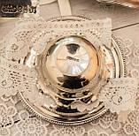 Посеребренная вазочка с ажурным краем, серебрение, E.P.N.S., Англия, J. POTTER, фото 5