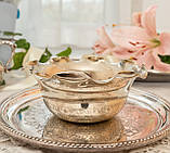 Посеребренная вазочка с ажурным краем, серебрение, E.P.N.S., Англия, J. POTTER, фото 7