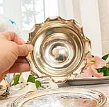 Посеребренная вазочка с ажурным краем, серебрение, E.P.N.S., Англия, J. POTTER, фото 8