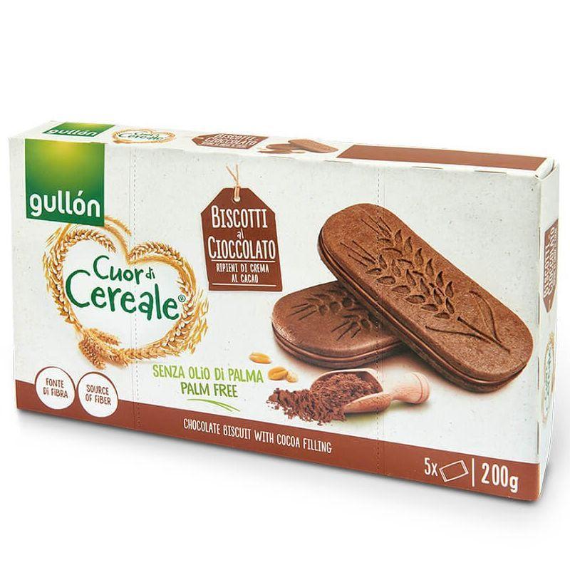 Печиво GULLON сендвіч CDC doble cacao шоколадне, 200г, 8шт/ящ