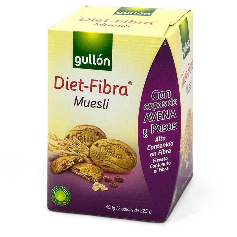 Печиво GULLON Diet Fibra Muesli, 450г, 6шт/ящ