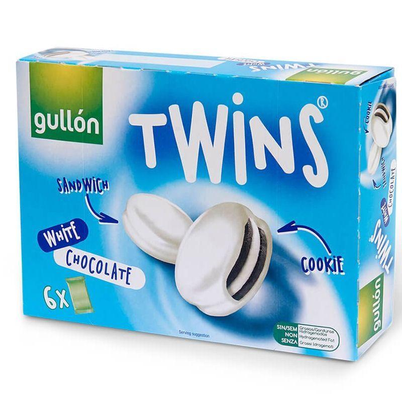 Печиво GULLON Twins сендвіч в білому шоколаді, 252 м, 10 шт/ящ