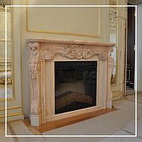 Розовый портал для камина: цена, купить., фото 1