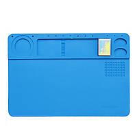 Силиконовый коврик для ремонта телефонов TE-602 26 x 38см (Голубой)