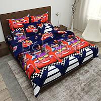 Детское постельное белье полуторное односпальное TM Krispol 150*220 тачки 164353 с