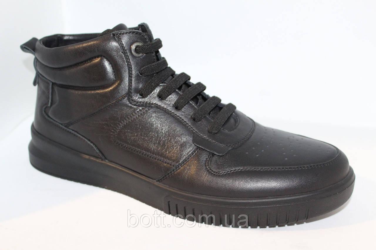 Кроссовки кожаные мужские черные