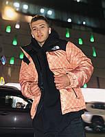 Куртка мужская зимняя Gucci x The North Face до -30*С бежевая   Мужской пуховик зимний Премиум качества