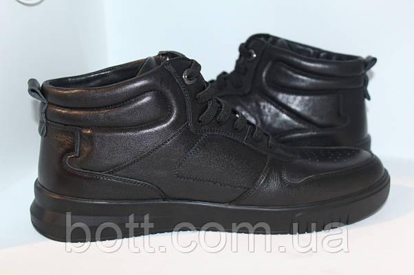 Кроссовки кожаные мужские черные, фото 3