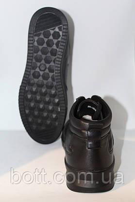 Кроссовки кожаные мужские черные, фото 2