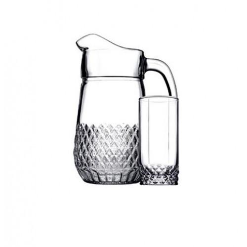 Набор для напитков Pasabahce Valse 97675 7пр. (Кувшин 1340мл и 6 стаканов 295мл)