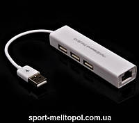 OME RJ-45 сетевой адаптер +3 порта USB 10/100Mbps USB 2.0 LAN для планшетных ПК и ноутбуков