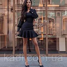 Платье мини с воланом / арт.1196, фото 3