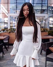 Платье мини с воланом / арт.1196, фото 2