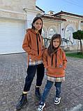 Детский теплый свитшот трехнитка с начесом размер: 116, 122, 128, фото 2