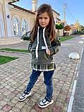 Детский теплый свитшот трехнитка с начесом размер: 116, 122, 128, фото 6