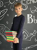 Дитяча термобілизна з вовною для хлопчика темно-синє