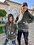 Детский теплый свитшот трехнитка с начесом размер: 116, 122, 128, фото 9