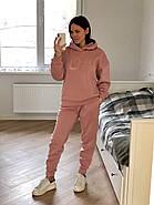 Розовый теплый костюм свитшот и штаны, фото 4