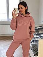 Розовый теплый костюм свитшот и штаны, фото 5