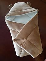 Конверт дитячий на виписку плюш на махрі