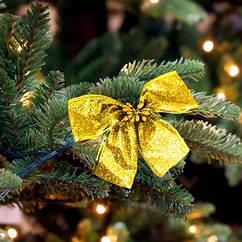Бант рождественский золотой