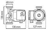 Насос циркуляционный центробеж. KOER KP.GRS-25/4-130 (с кабелем и вилкой) (KP0250), фото 2