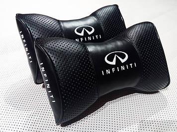 Подушка на подголовник с логотипом Infiniti Подушка-подголовник Подушка для водителя на подголовник в машину