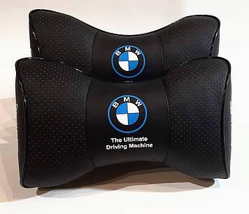 Подушка на подголовник в авто Подушка с логотипом БМВ Подушка в авто BMW Подарок автолюбителю